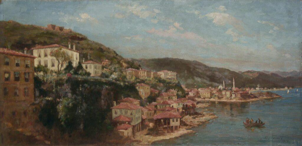 Ανατολική άποψη Κερασούντος, Fronti Michel (Φροντί Μισέλ), 1919. Πηγή: Εθνική Πινακοθήκη