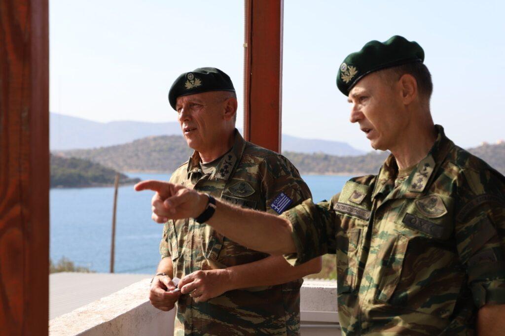 Ο Α/ΓΕΕΘΑ και ο ο Διοικητής της ΔΕΠ/ΓΕΕΘΑ Αντιστράτηγος Γεώργιος Τσιτσικώστας
